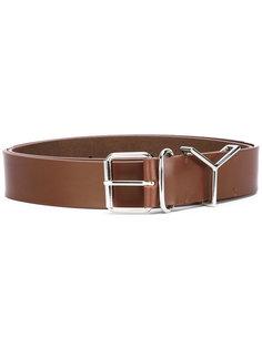 silver buckle belt Y / Project