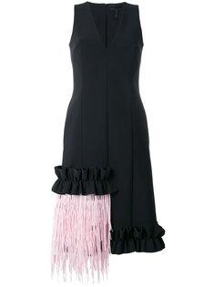 платье с контрастной бахромой Paskal