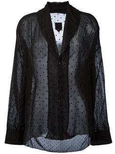 прозрачная рубашка с лацканами-шалькой Rta