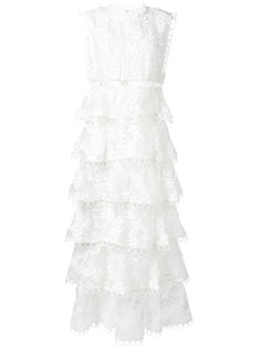 Winsome embroidered tiered dress Zimmermann