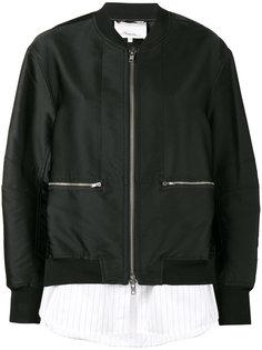 куртка-бомбер с контрастным подолом 3.1 Phillip Lim