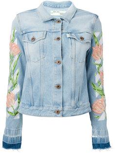 джинсовая куртка с вышивкой тюльпанов Off-White