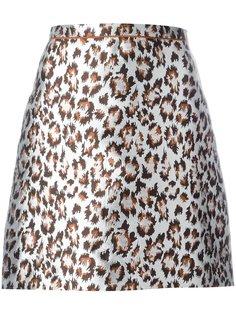 мини-юбка с леопардовым принтом Christopher Kane