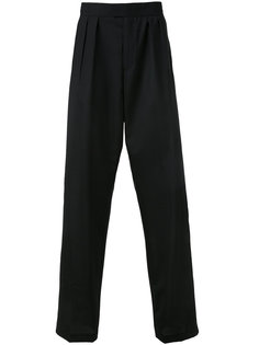 широкие брюки с плиссировкой Raf Simons