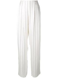 широкие полосатые брюки  Giorgio Armani