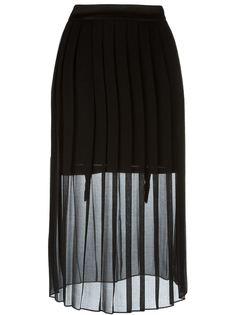 прозрачная плиссированная юбка Murmur