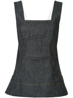 flared denim tank Derek Lam