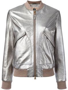 куртка-бомбер с эффектом металлик Eleventy