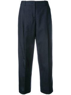 укороченные костюмные брюки Jil Sander Navy