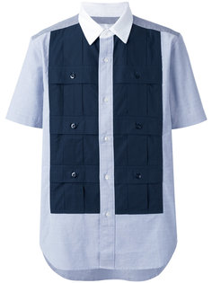 рубашка с короткими рукавами и вставкой Ganryu Comme Des Garcons