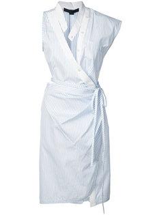 полосатое платье с запахом Alexander Wang