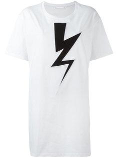 свободная футболка Lightning Bolt Neil Barrett