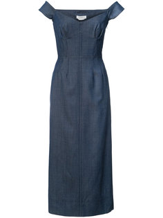 off-shoulder denim dress Gabriela Hearst