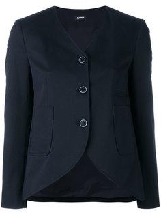 пиджак с закругленным подолом Jil Sander Navy