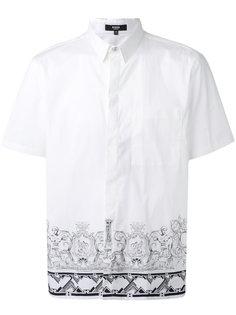 рубашка с принтом на подоле Versus