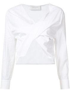ruched cropped blouse Esteban Cortazar