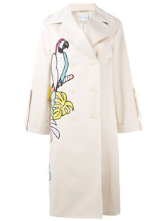 parrot applique trench coat  Mira Mikati