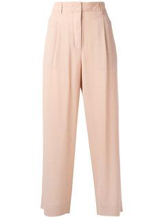 расклешенные укороченные брюки Incotex