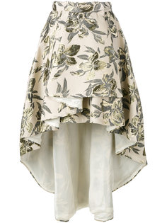 asymmetric printed skirt  Christian Pellizzari