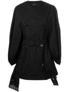 двубортное пальто свободного кроя Simone Rocha