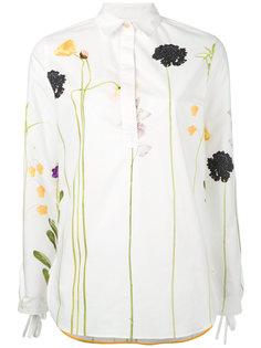 рубашка с цветочной вышивкой Paul Smith