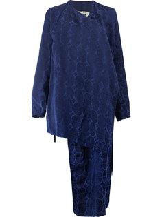 асимметричный пиджак с геометрическим узором Uma Wang