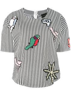 полосатая блузка с заплатками Michaela Buerger