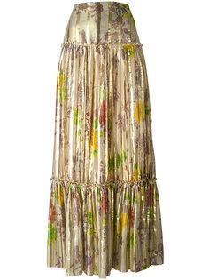 плиссированная юбка макси Etro