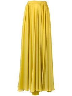 длинная плиссированная юбка Elie Saab
