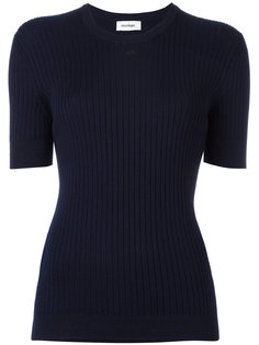 трикотажная футболка Courrèges