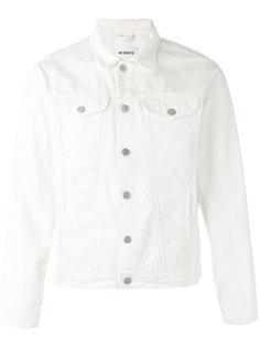 джинсовая куртка с принтом поцелуя  Misbhv
