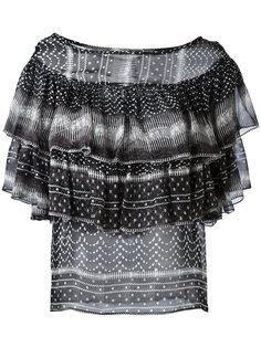 ruffled pattern blouse Plein Sud Jeanius