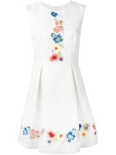 embroidered jacquard dress Blugirl