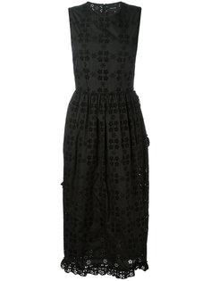 платье миди с вышивкой Simone Rocha