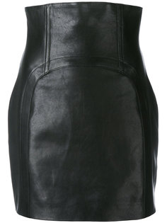 облегающая юбка с завышенной талией Saint Laurent