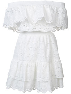 off shoulder ruffle eyelet dress  Love Shack Fancy