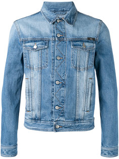 джинсовая куртка с потертой отделкой Ami Alexandre Mattiussi