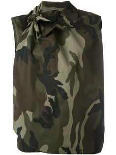 блузка без рукавов с камуфляжным принтом  Mm6 Maison Margiela