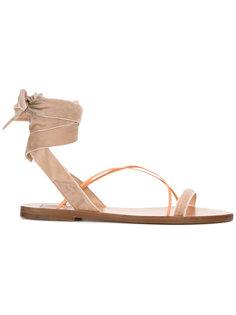 сандалии со шнуровкой Valentino