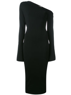 asymmetric neck dress  Solace