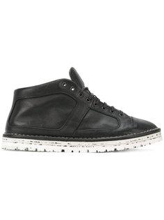 туфли со вставками и потертостями  Marsèll