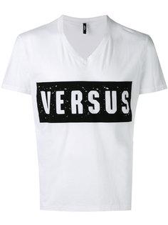 футболка с состаренным логотипом Versus