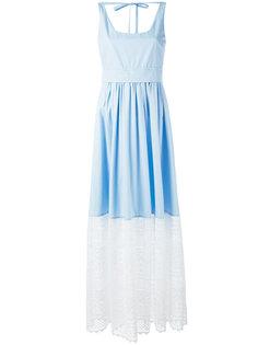поплиновое платье с кружевными панелями Nº21