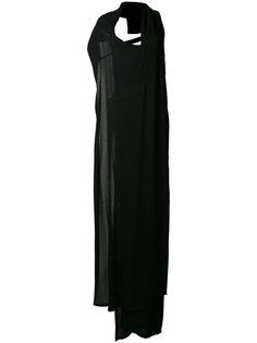 вечернее платье с ремешком на спине Ann Demeulemeester