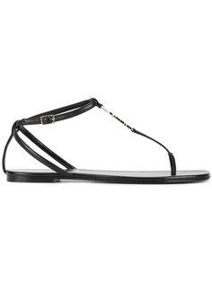 сандалии с ремешком между пальцев Saint Laurent