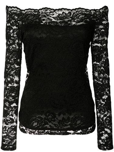 кружевная блузка с открытыми плечами L'agence
