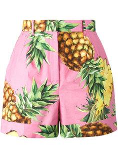 шорты с принтом ананасов Dolce & Gabbana