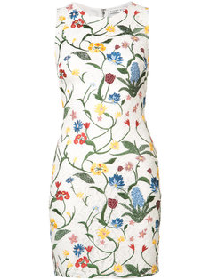 embroidered flowers lace dress Alice+Olivia