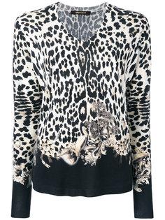 блузка с V-образным вырезом Roberto Cavalli