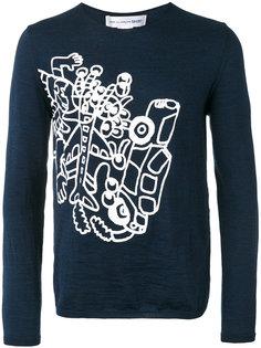 джемпер с абстрактным принтом Comme Des Garçons Shirt